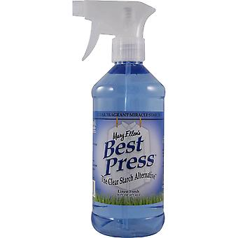 Mary Ellen's Best Press Clear Starch Alternative 16 Ounces Linen Fresh 600Bp 63