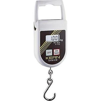 Hanging scales Kern Weight range 50 kg Readability 50 g