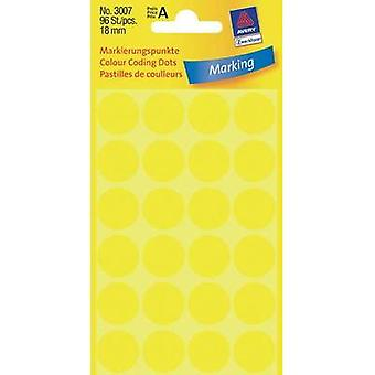 Avery Labels 3007 18Mm Yellow Point Mark