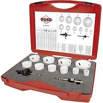 Hole saw set 12-piece RUKO 126303 cobalt 1 Set
