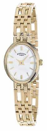 Roterande 9ct Gold Elite ädelmetaller Oval Dial LB10090/02 Watch