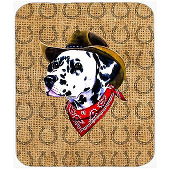 Dalmatian Dog Country Lucky Horseshoe Mouse Pad, Hot Pad or Trivet