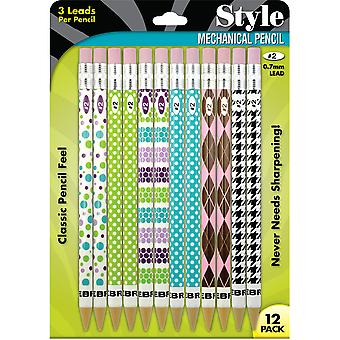 Fashion Mechanical Pencils 12/Pkg-Assorted Z50212