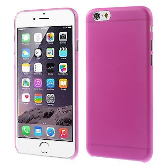 Cover in plastica ultra-sottile 0,3 compagno PC per iPhone 6 (rosa)