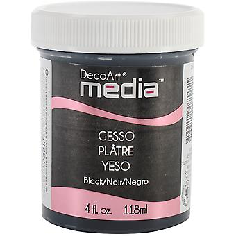 Media Gesso 4oz-Black DMM19