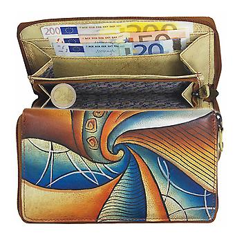 Greenland-art + craft leather zip wallet 101-09
