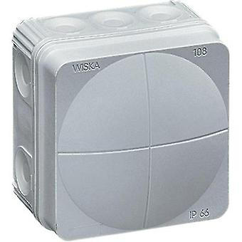Wiska Grey (RAL 7035) Wet-Room Junction Box IP66