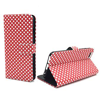 Mobile phone case pouch for phone Apple iPhone 6 / 6s plus polka dot Red