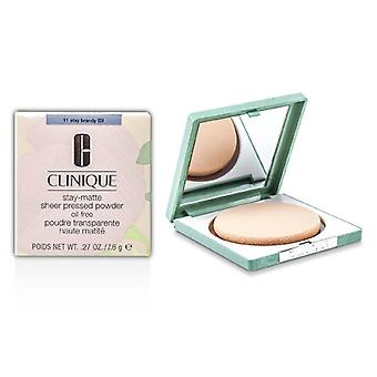 Clinique Stay Matte Powder Oil Free - No. 11 Stay Brandy 7.6g/0.27oz