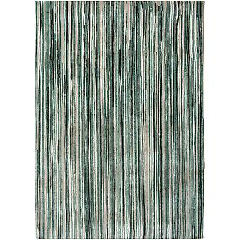 Atlantic Modern Green Stripe Rug - Louis de Poortere