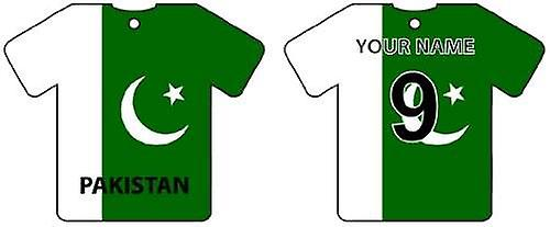 Personalised Pakistan Flag Jersey Car Air Freshener