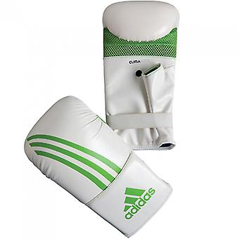 Adidas Box-Fit Open Thumb Boxing Bag Gloves - White/Green
