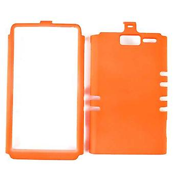 Unlimited Cellular Rocker Snap-On Case for Motorola XT907/Droid Razr M (Fluorescent Orange)