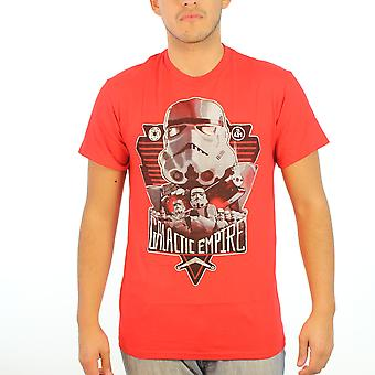 Star Wars Stormtroopers Silver Loyalty Men's Red T-shirt