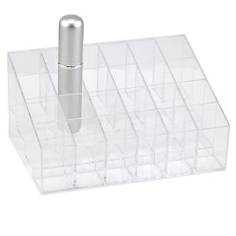 TRIXES Clear 24 Makeup Lipstick Cosmetic Storage Display Stand Rack Holder Organiser