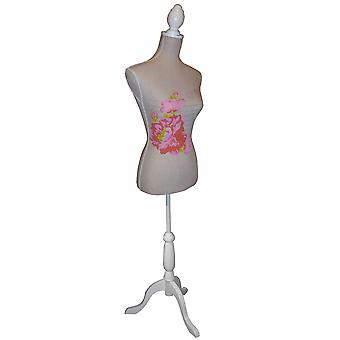Rose - Mannequin / decoratieve naaisters Dummy - bruin / roze