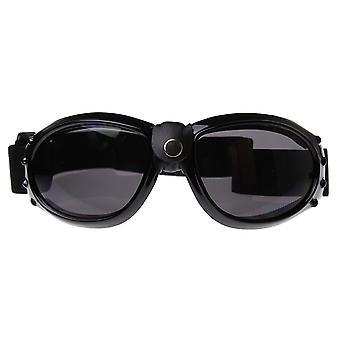 Fett-Runde Motorrad Biker Brille / Sonnenbrille mit verstellbarem Schultergurt