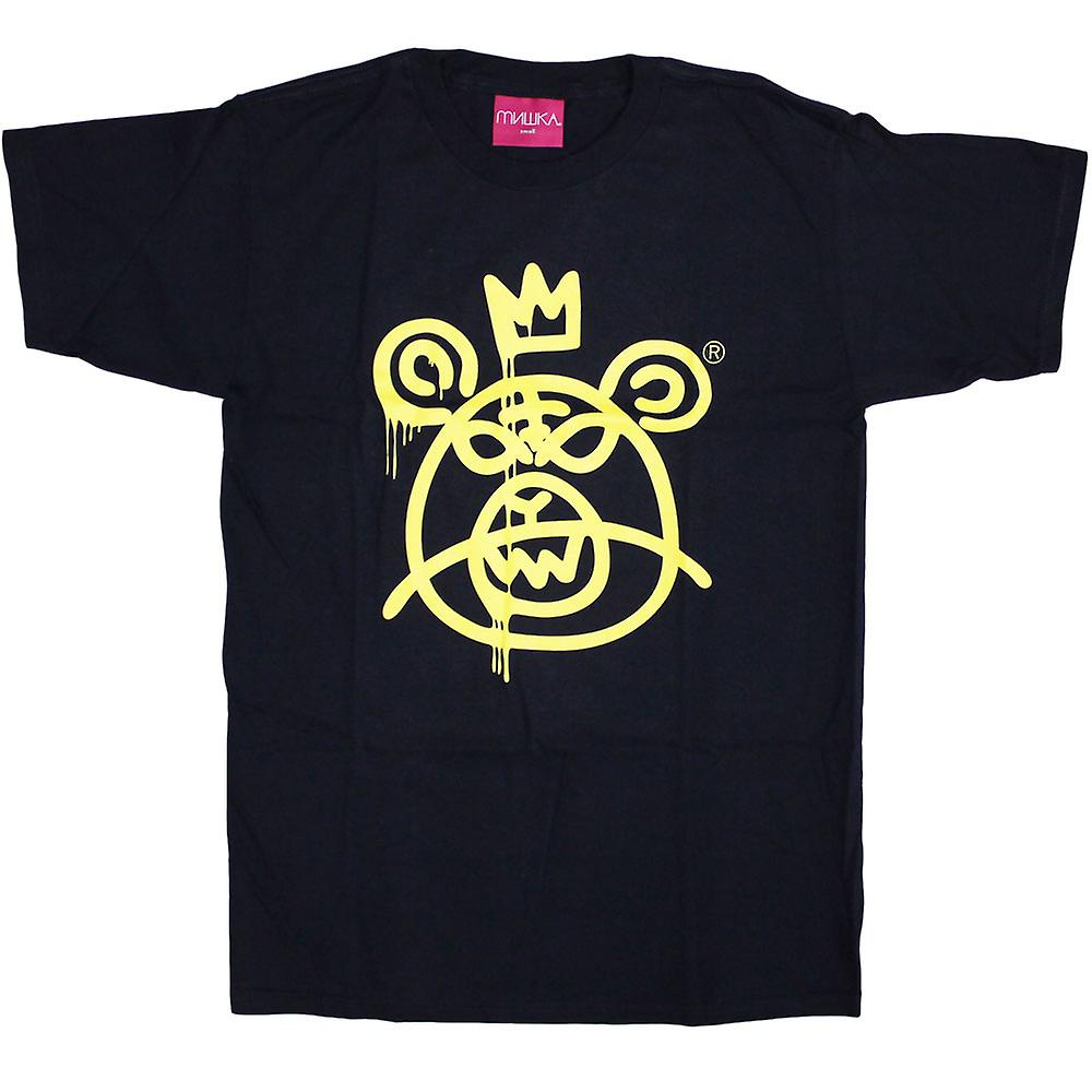 Mishka Bear Mop T-Shirt Navy Yellow