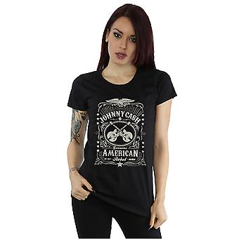 Johnny Cash kvinders amerikanske Rebel T-Shirt