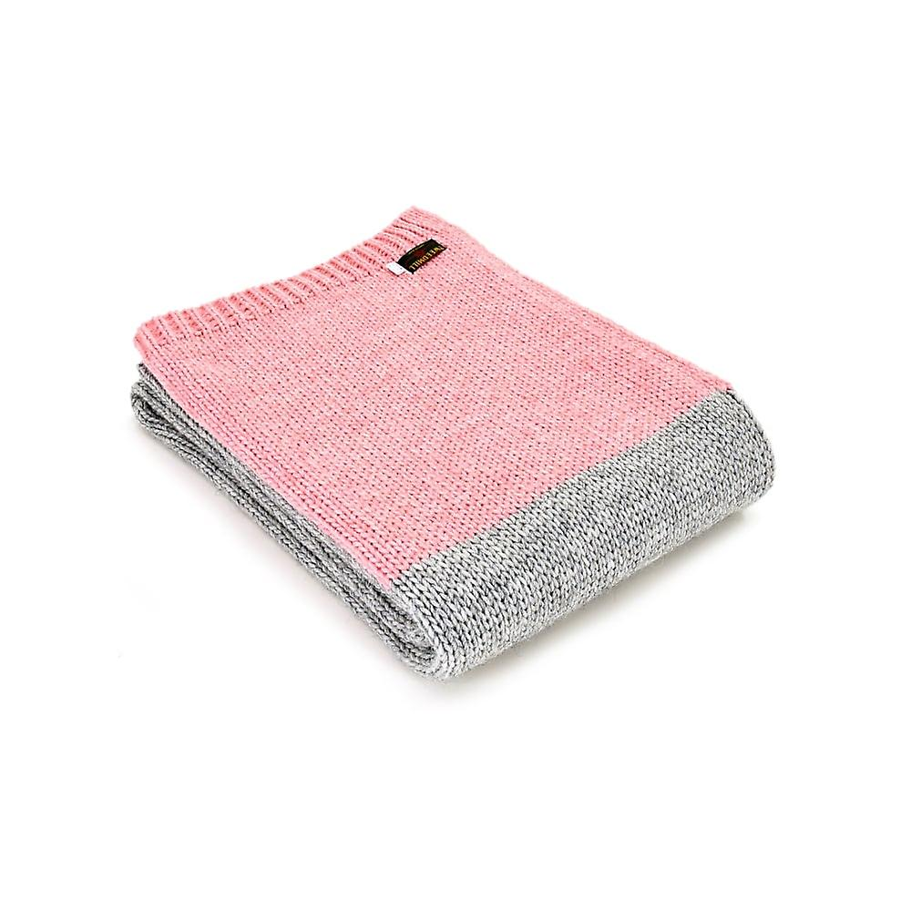 Panel Knitted ThrowGrey Mix Alpaca Tweedmill pink POn0w8k