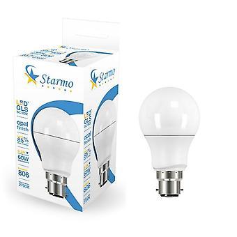 Starmo LED 5W 6W (50W/60W) BC B22 ES E27 GLS lampe pærer varm-kold hvid