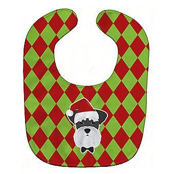 Carolines tesoros BB5999BIB Navidad Schnauzer bebe babero