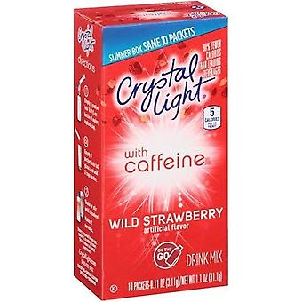 Crystal Light on the Go Wild Strawberry with Caffeine Drink Mix Packets