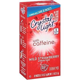 Kristall Licht auf die gehen wilde Erdbeeren mit Koffein Drink Mix Pakete
