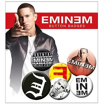 Eminem Logo Recovery New Official Badge Pack (4x 25mm & 2x 32mm)