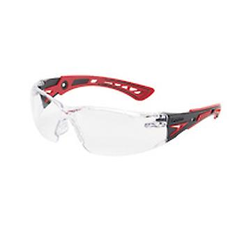 Bolle Rushppsi Platinum Smoke Pc Lens Anti-Scratch Anti-Fog Red/Black Temples