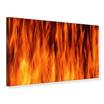 Canvas Print Fire Close Up
