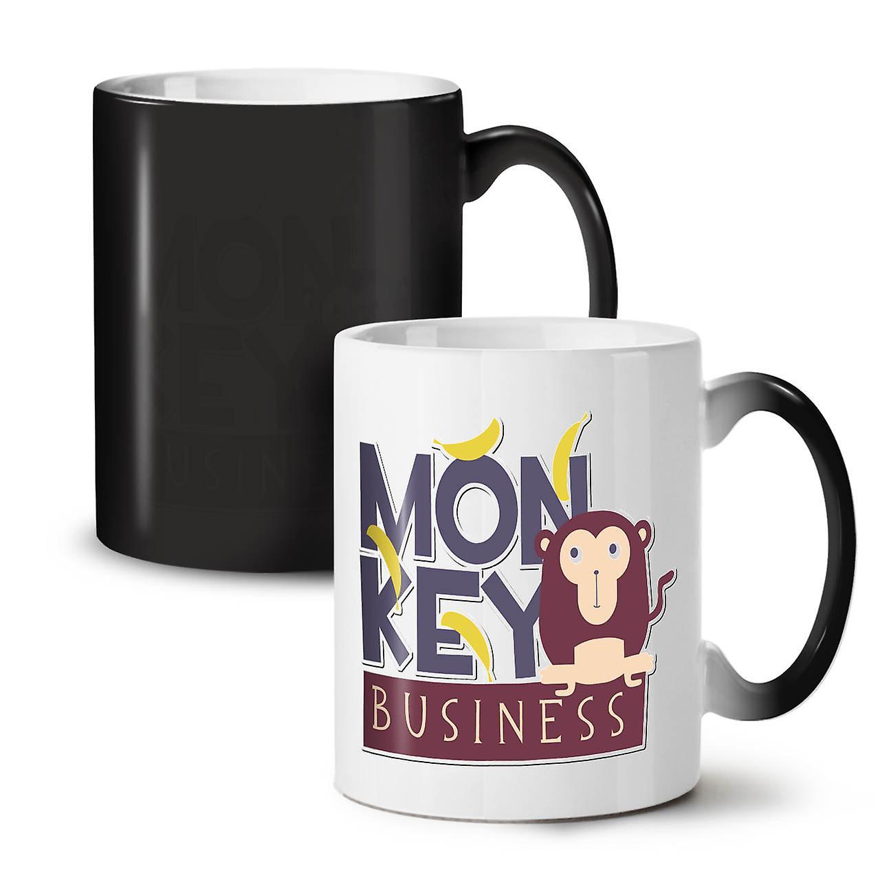 Couleur Drôle Nouveau Monkey Business OzWellcoda Café Changeant Noir 11 De Thé Céramique Tasse zVMpGSUq