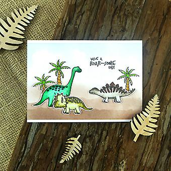 Hunkydory For The Love Of Stamps A6-Dino Friends FTLS178