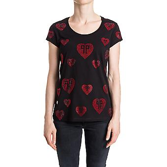 Philipp Plein ladies WTK0152PJY002N02R0 black cotton T-Shirt