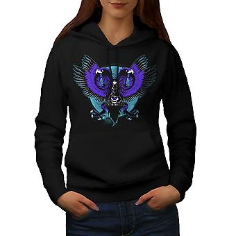 Eagle Triangle Women BlackHoodie | Wellcoda