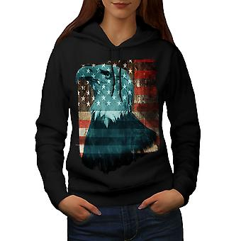 BlackHoodie женщин флаг свободы США орел | Wellcoda