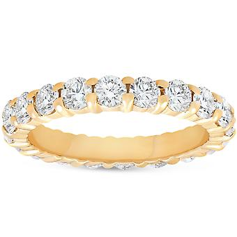 2ct Prong Diamond Eternity Ring 14K Yellow Gold