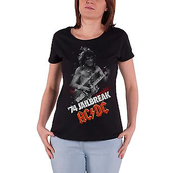 AC/DC T Shirt Jailbreak 74 band logo new Official Womens Skinny Fit Black