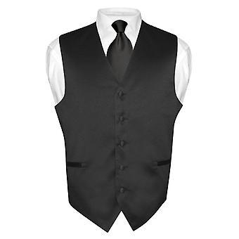 Abito gilet cravatta   solido collo cravatta Set maschile per seme o Tuxedo d9e67c13d6f
