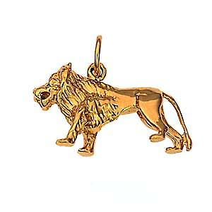 9ct Gold 15x23mm Lion Pendant or Charm
