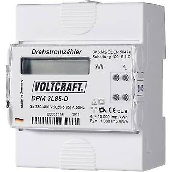 VOLTCRAFT DPM 3L85-D Electricity meter (3-phase) Digital 85 A MID-approved: No