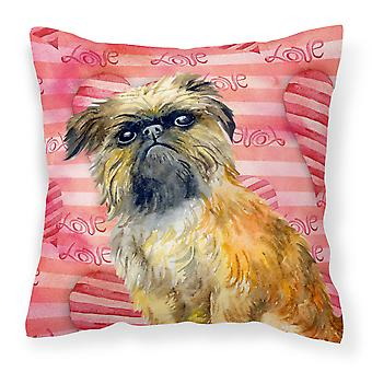 Carolines Treasures  BB9774PW1414 Brussels Griffon Love Fabric Decorative Pillow