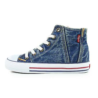Levis Red Tab Hi-Top Senior Baseball Boots Blue