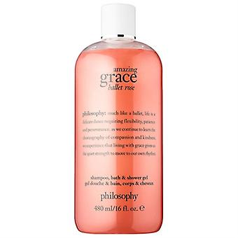 Filosofie Amazing Grace Ballet Rose Shampoo, bad, & Douche Gel 16oz / 480ml