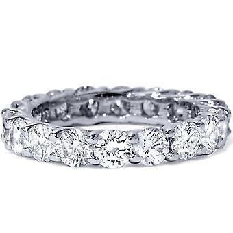 3 قيراط الماس حقيقي الخلود الذكرى خاتم الزواج