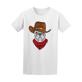 French Bulldog Dog In Cowboy Hat Tee Men's -Image by Shutterstock