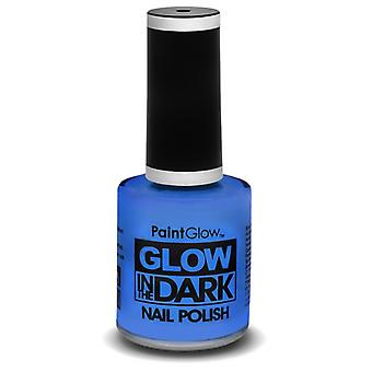 Smiffys Glow In The Dark Nail Polish Blue 10Ml (Babies and Children , Costumes)