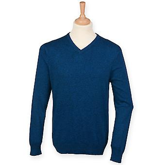 Henbury Mens Tri Blend V-Neck Marl Jumper