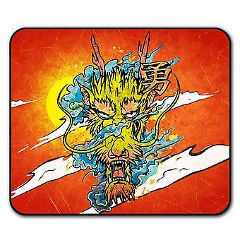 Dragón asiático mito ratón antideslizante Mat Cojín 24 cm x 20 cm | Wellcoda