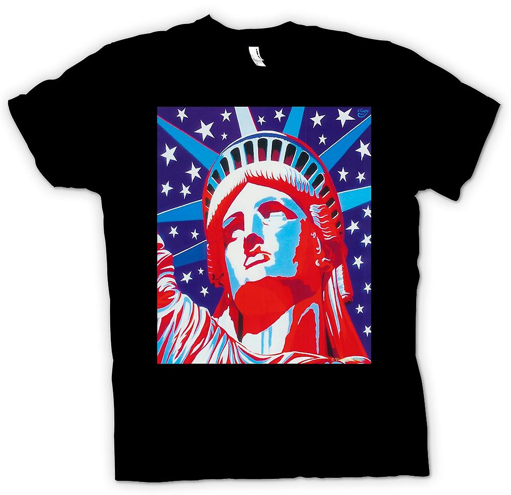 Womens T-shirt - Statue Of Liberty - Pop Art